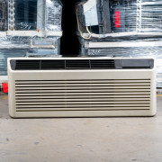 Refurbished A-Grade GE 12,000 BTU PTAC Air Conditioner - 265 volt - 20 amp - with Knob Control and Resistive Electric Heat