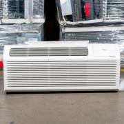 New Midea 12,000 BTU PTAC Air Conditioner - 230 volt - 20 amp - with Digital Controls and Electric Heat
