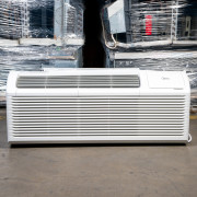 Refurbished A+-Grade Midea 12,000 BTU PTAC Air Conditioner - 265 volt - 20 amp - with Electronic Control and Heat Pump