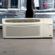 Refurbished A-Grade Carrier 9,000 BTU PTAC Air Conditioner - 230 volt - 20 amp - with Knob Control and Resistive Electric Heat