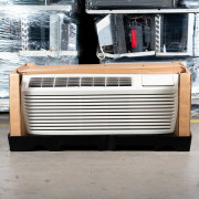 Refurbished A-Grade Trane 9,000 BTU PTAC Air Conditioner - 230 volt - 20 amp - with Knob Control and Heat Pump