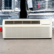 Refurbished A-Grade GE 9,000 BTU PTAC Air Conditioner - 265 volt - 20 amp - with Knob Control and Resistive Electric Heat